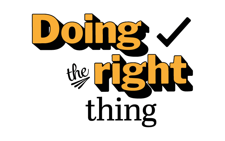 doing the right thing small