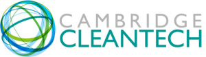 Cambridge Cleantech logo - green rectangle with green text and two inverted Cs connected