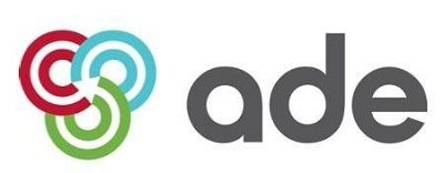 Logo for the Association for Decentralised Energy: red, green and blue interlocking circles with ade written in bold grey text